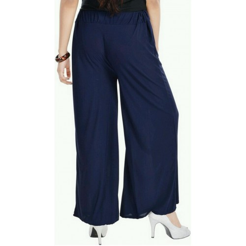 Lambency Regular Fit Women's White, Dark Blue Trousers