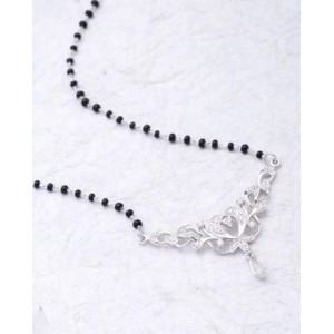 Voylla CZ Studded Mangalsutra With Beaded Chain