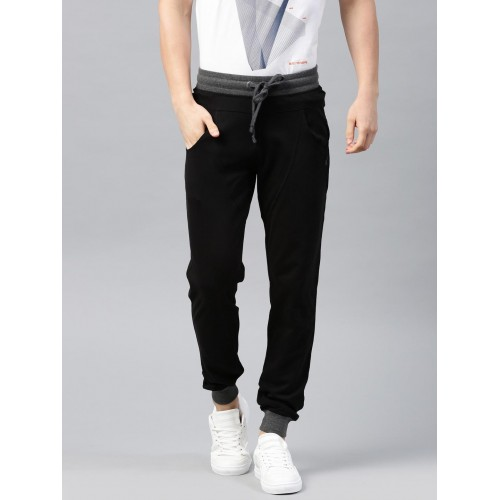 HRX by Hrithik Roshan Black Solid Active Joggers