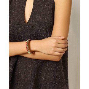 RRIKA - by Ruchi Embroidered Brass Bangle