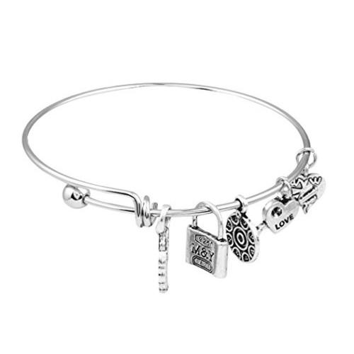Buy Sansar India Sansar India Oxidized Silver Finish Lucky Charms