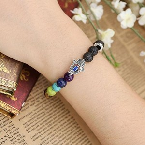 Young & Forever Multicolor Metal Beaded Gemstone Bracelet
