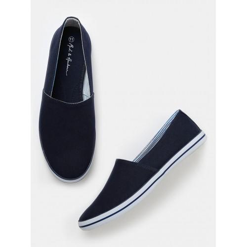 Buy Mast \u0026 Harbour Men Navy Loafers