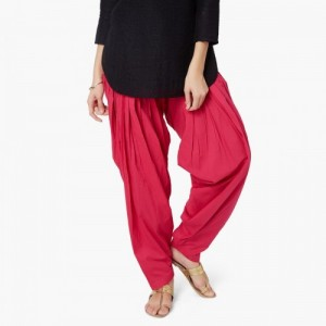 Max Red Cotton Solid Patiala