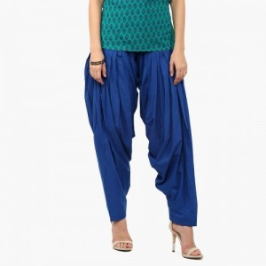 Max Blue Cotton Solid Patiala