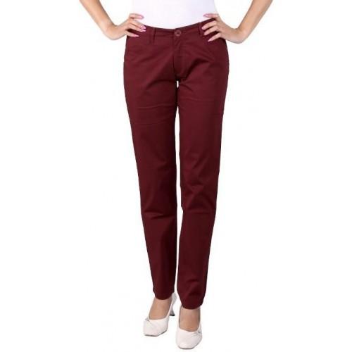 Buy Airwalk Slim Fit Women s Maroon Trousers online  c7643d73a563