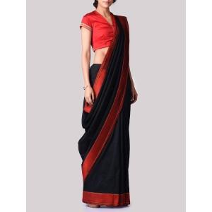 VIDHI SINGHANIA Black Banarasi Silk Saree