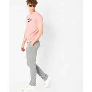John Players Pink & Gray Graphic Print T-shirt with Pyjamas