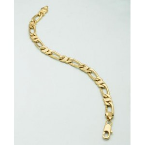 Voylla Link Designer Yellow Gold Bracelet