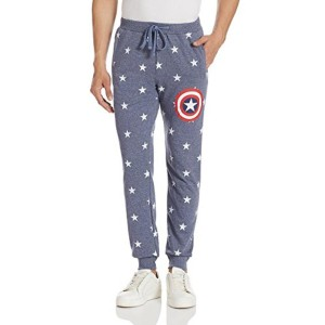Captain America by Free Grey Printed Cotton Authority Men's Payjama
