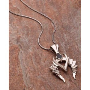 Voylla Dual Plated Pendant With Chain For Men