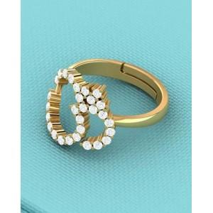Voylla Gold Flash Plated OM Designer Adjustable Ring for Men