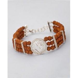 Voylla OM Design Rudraksha Beaded Bracelet For Men