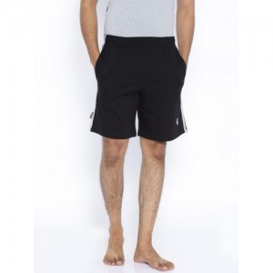 Playboy Black Cotton Lounge Shorts