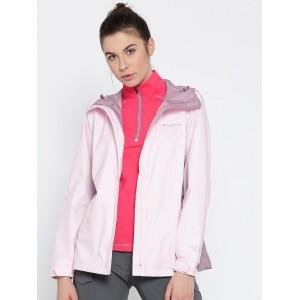 Columbia Pink Plastic Long Sleeve Rain Jacket