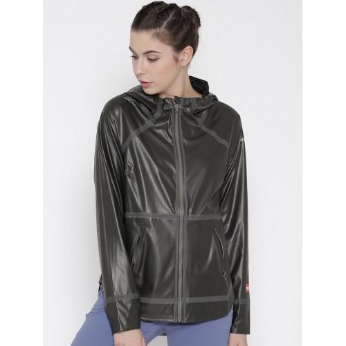 Columbia Charcoal Grey & Black Nylon Polyester Reversible Rain Jacket