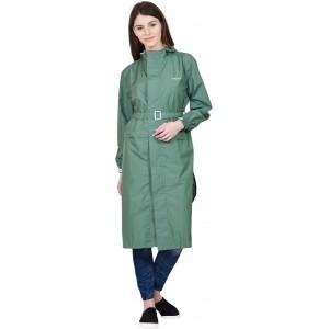 Versalis Green Nylon Polyester Solid Raincoat