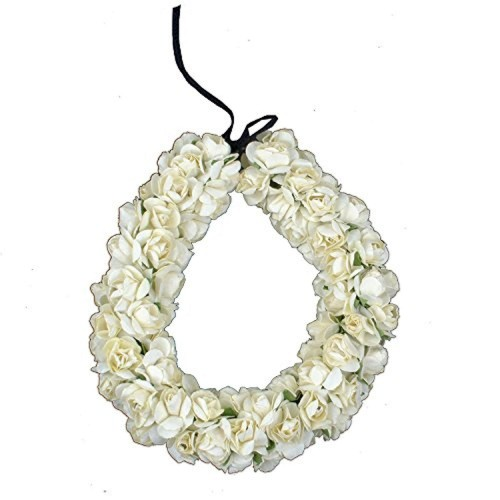 BAAL Baal South Indian Bridal Hair Gajra / Veni Hair Accessory For Bun Making (White)
