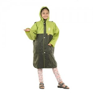 Allwin Olive Solid Unisex Polyester Raincoat