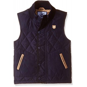 612 League Navy Blue Cotton Solid Quilted Jacket