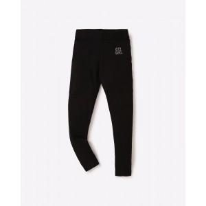 612 League Black Cotton Leggings with Sequin Embellishment