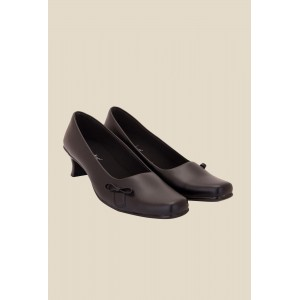 Solester Brown Synthetic Slip-On Formal Pumps