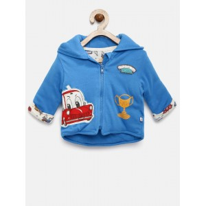 FS Mini Klub Sky Blue Cotton Hooded Jacket