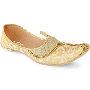 Golden Silk Slip-On Ethnic Moajari
