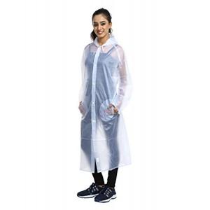Finery White Self Design Women's Raincoat