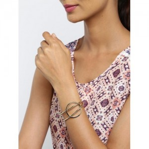 Tipsyfly Gold-Toned Through The Loop Cuff Bracelet