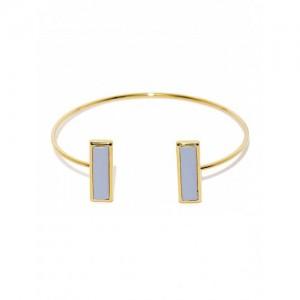 Tipsyfly Gold-Toned & Blue Cuff Bracelet