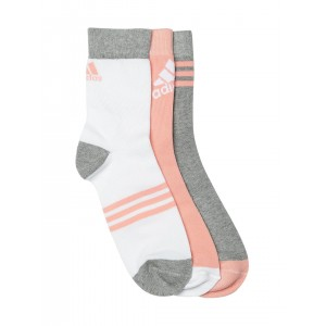Adidas Multi Color Cotton Striped Ankle Length Socks-Pack Of 3