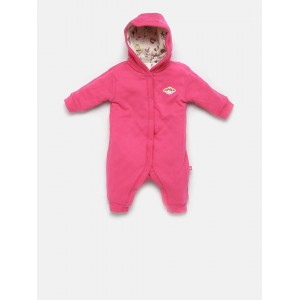FS Mini Klub Off-White & Pink Cotton Reversible Romper