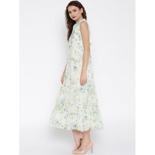 38eec91aaf354 Buy RARE Women Off-White Floral Print Maxi Dress online | Looksgud.in