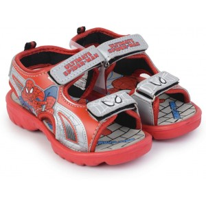 Spiderman Red and Gray Boys Sports Sandals