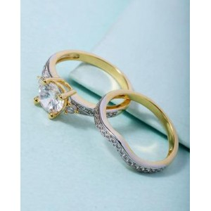 Voylla Sparkling Combo Of Rings For Women