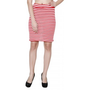 My Swag Striped Women\'s Pencil Red Skirt