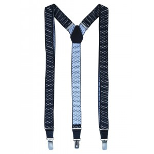 Alvaro Castagnino Men Blue Printed Suspenders