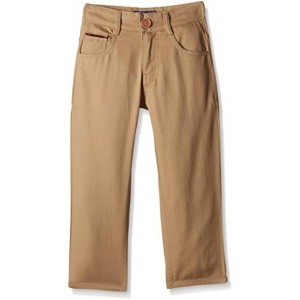 612 League Brown Cotton Solid Trousers