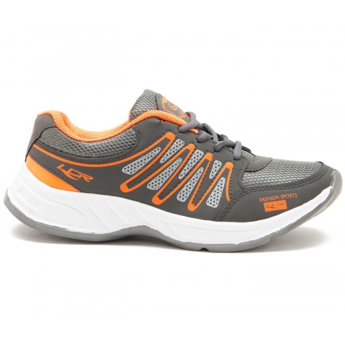 Lancer Mens Green & Orange Sports Shoes