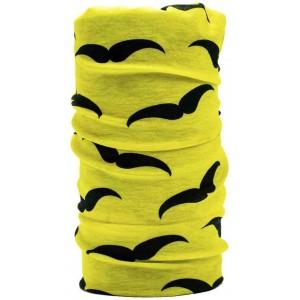 ThunderFit Men's Yellow and Black Printed Bandana