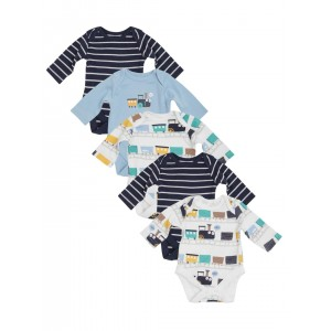 Mothercare Multi Color Cotton Printed Body Suit -Pack Of 5