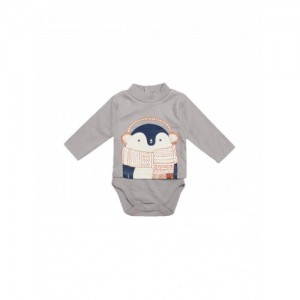 FS Mini Klub Infant Grey Cotton Printed Bodysuit