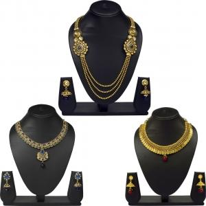 VK Jewels Excellent Brass Jewel Set