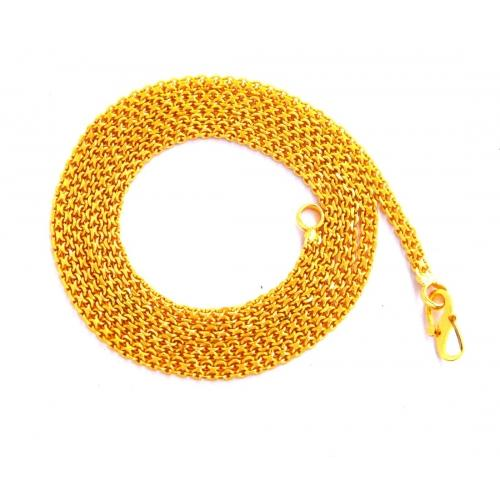 Camy 18K Yellow Gold Plated Brass, Alloy, Metal Chain