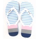 Flipside Nautica Blue Striped Flip Flops