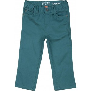 The Children's Place Teal Blue Cotton Skinny Fit Trousers