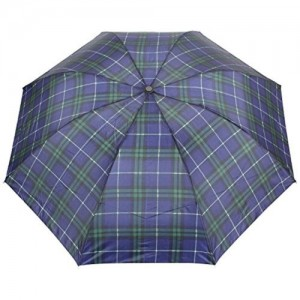 FabSeasons FabSeasons Unisex Blue Checks Print, 3 Fold Fancy Manual Umbrella for Rain, Summer & All weather conditions