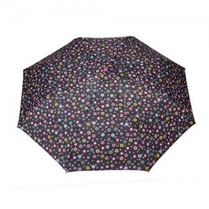 FabSeasons FabSeasons Black, Geometric Printed, 3 Fold Fancy Automatic Umbrella for all Weather