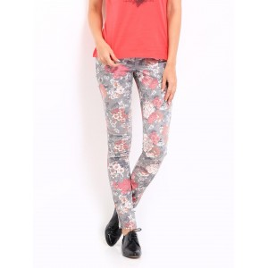 ONLY Women Grey Printed Jeggings